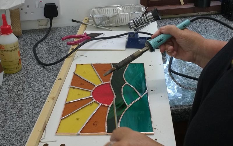 Copper Foiled Stained Glass