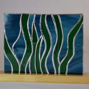 Copper foiled (Tiffany) stained glass panel