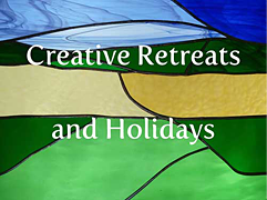 Short breaks, holidays & retreats with tuition in stained glass & glass applique