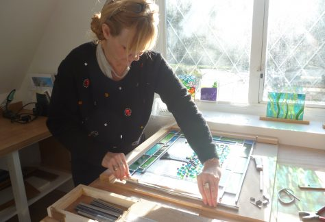 Make your own stained glass for your home on a weekly stained glass course in Kent