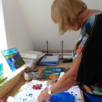 Creative glass fusion for improvers in our Kent workshop