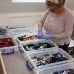 There's a huge range of coloured galss to choose from on your glass applique experience day